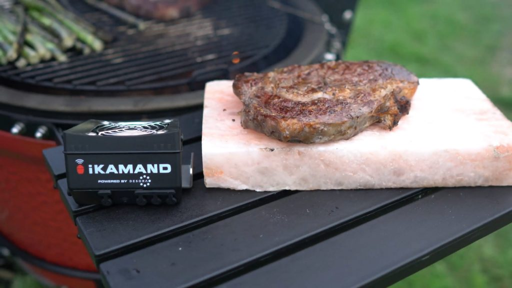 iKamand smart grill controller grilled steak