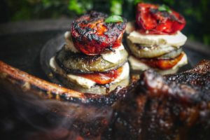 Desora iKamand BBQ 4th of July Best Grilling Recipes Roasted Goat Cheese Vegetable Stack